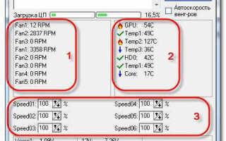 Управление скоростью вращения вентиляторов системного блока