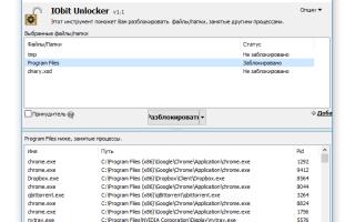 Программа для удаления заблокированных файлов и папок