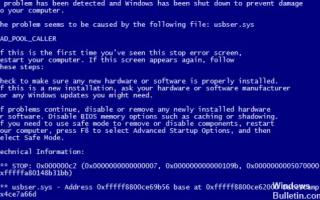Ошибка bad pool caller Windows 10