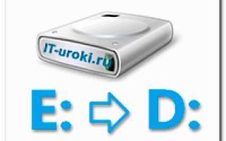Как изменить букву системного диска Windows 10?