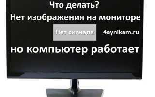 Монитор не показывает изображение индикатор горит