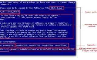 Ошибка bluescreen Windows 7 что делать