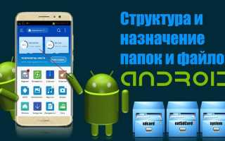 Просмотр системных папок android на pc