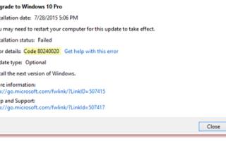 Код ошибки 0x80070070 как исправить